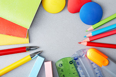 Colored pencils and supplies