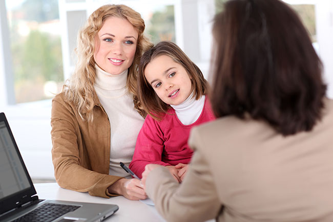 Mother advocating for young daughter